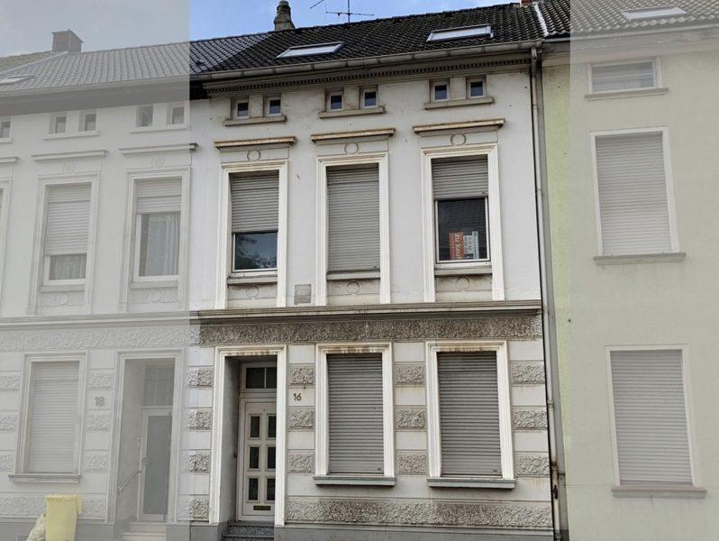Dülken: Sanierungsbedürftiges Stadthaus mit kleinem Hofgarten – Viel Platz & Gestaltungsmöglichkeiten, 41751 Viersen, Stadthaus