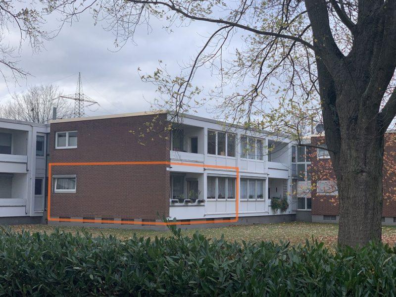 KR-Benrad: vermietete 2-Zimmer ETW mit Loggia zur Kapitalanlage in gepflegter Anlage, 47804 Krefeld, Erdgeschosswohnung