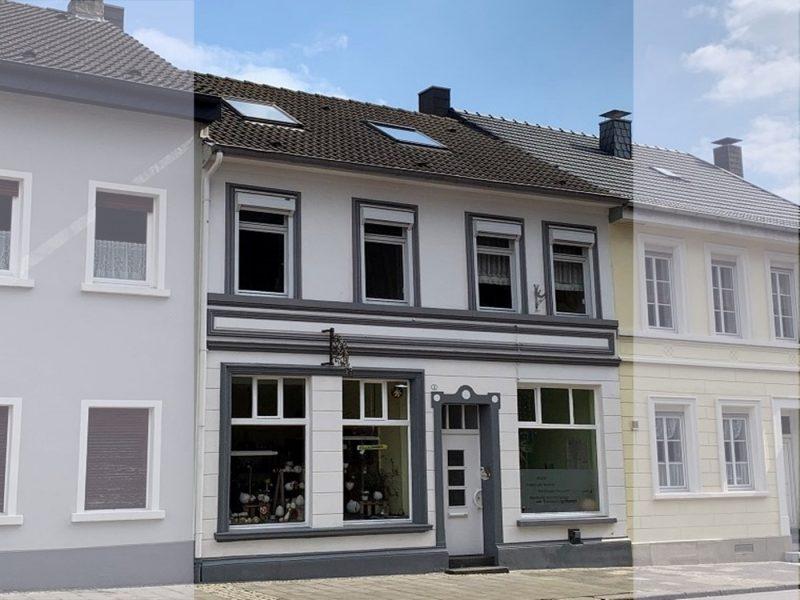 Denkmal im Kern von Dülken: 2 Ladenlokale, Wohnung, schicker Garten, Partyraum/ Backstube & Garage, 41751 Viersen, Stadthaus